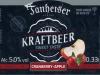 Tanheiser Kraftbeer Cranberry-Apple ▶ Gallery 2648 ▶ Image 8949 (Label • Этикетка)