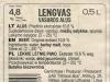 Lengvas vasaros alus ▶ Gallery 2575 ▶ Image 8686 (Back Label • Контрэтикетка)