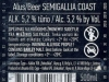 Semigallia coast Lager ▶ Gallery 2689 ▶ Image 9111 (Back Label • Контрэтикетка)