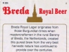 Breda Royal Beer ▶ Gallery 2509 ▶ Image 8351 (Back Label • Контрэтикетка)