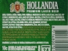 Hollandia Premium Lager ▶ Gallery 842 ▶ Image 2247 (Back Label • Контрэтикетка)