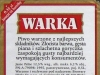 Warka Jasne Pełne ▶ Gallery 427 ▶ Image 1059 (Back Label • Контрэтикетка)
