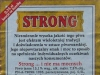 Warka Strong ▶ Gallery 428 ▶ Image 1062 (Back Label • Контрэтикетка)