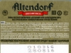Altendorf пшеничное ▶ Gallery 1074 ▶ Image 5867 (Back Label • Контрэтикетка)