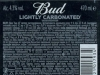 Bud 66 ▶ Gallery 2503 ▶ Image 8322 (Back Label • Контрэтикетка)