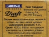 Cardinal Draft ▶ Gallery 1016 ▶ Image 2846 (Back Label • Контрэтикетка)