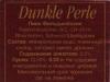 Dunkle Perle ▶ Gallery 1021 ▶ Image 2859 (Back Label • Контрэтикетка)