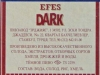 Efes Dark ▶ Gallery 2818 ▶ Image 9704 (Back Label • Контрэтикетка)