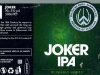 Joker IPA ▶ Gallery 2726 ▶ Image 9282 (Wrap Around Label • Круговая этикетка)