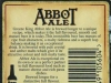 Abbot Ale ▶ Gallery 566 ▶ Image 6203 (Back Label • Контрэтикетка)