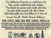Speyside Oak Aged Blonde Ale ▶ Gallery 2035 ▶ Image 6470 (Back Label • Контрэтикетка)