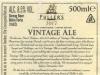 Vintage Ale ▶ Gallery 2039 ▶ Image 6502 (Back Label • Контрэтикетка)