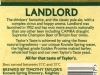 Timoty Taylor's Landlord ▶ Gallery 2724 ▶ Image 9255 (Back Label • Контрэтикетка)