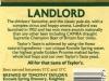 Timoty Taylor's Landlord ▶ Gallery 2724 ▶ Image 9255 (Back Label • Контрэтикетка)