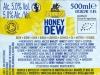 Honey Dew ▶ Gallery 632 ▶ Image 9790 (Back Label • Контрэтикетка)
