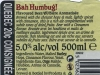 Bah Humbug ▶ Gallery 2200 ▶ Image 7244 (Back Label • Контрэтикетка)