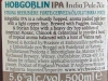 Hobgoblin India Pale Ale ▶ Gallery 1861 ▶ Image 10576 (Back Label • Контрэтикетка)