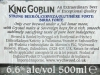 King Goblin ▶ Gallery 1125 ▶ Image 3238 (Back Label • Контрэтикетка)