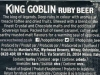 King Goblin ▶ Gallery 1125 ▶ Image 10665 (Back Label • Контрэтикетка)
